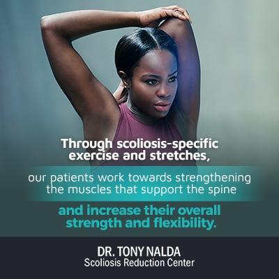 through scoliosis specific exercise and stretches