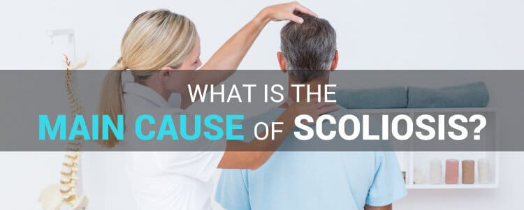 What is the main cause of scoliosis