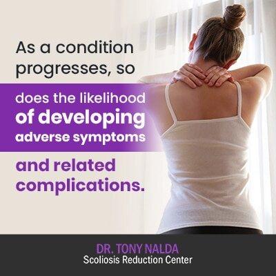 as a condition progresses