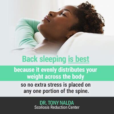 back sleeping is best