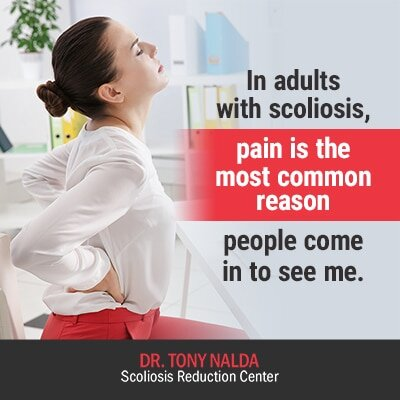 in adults with scoliosis pain