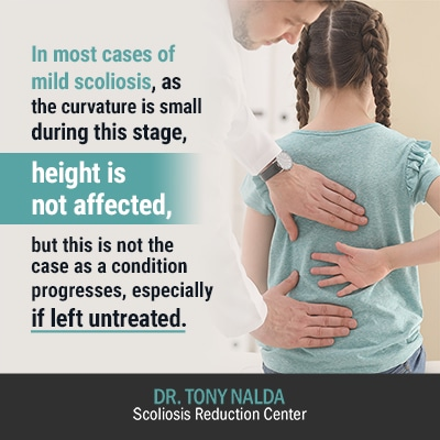 in most cases of mild scoliosis