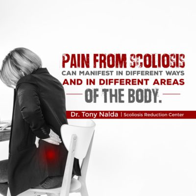 pain from scoliosis can manifest