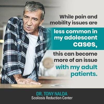 while pain and mobility issues are