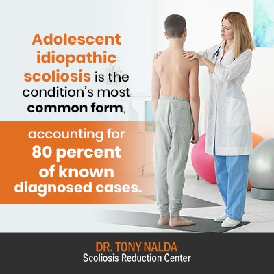 adolescent idiopathic scoliosis is the 400