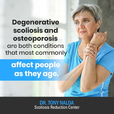 degenerative scoliosis and osteoporosis and 400