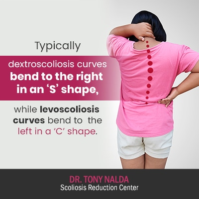 typically dextroscoliosis curves bend 400